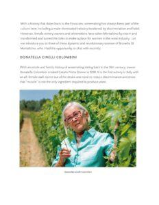 Sante Magazine Women Warriors of Brunello di Montalcino - share - agenzia comunicazione