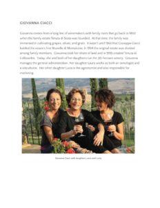 Sante Magazine Women Warriors of Brunello di Montalcino - press - agenzia comunicazione