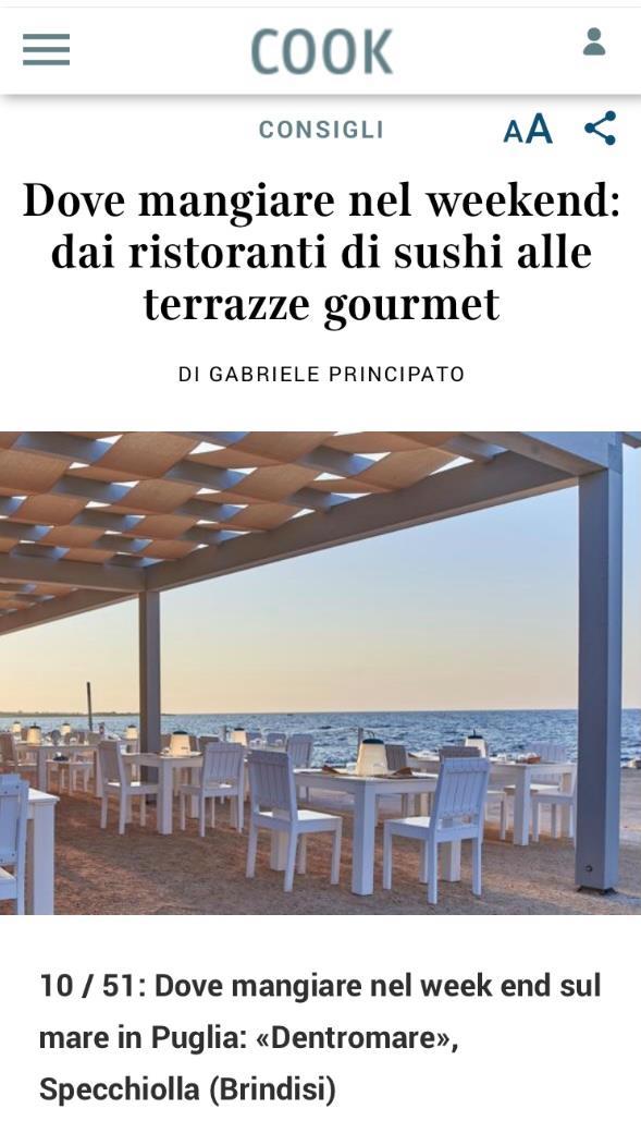 CANNE BIANCHE LIFESTYLE HOTEL – CORRIERE DELLA SERA – GIUGNO 2021