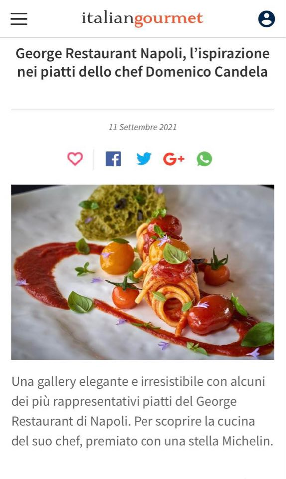 GRAND HOTEL PARKER'S – ITALIANGOURMET – SETTEMBRE 2021
